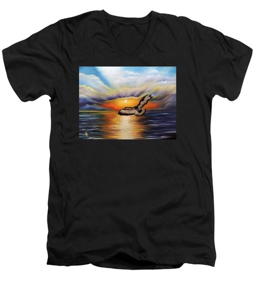 Soaring High Men's V-Neck T-Shirt