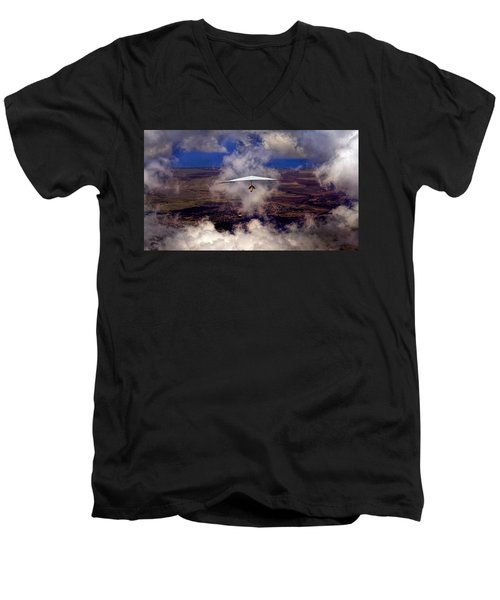 Soaring Through The Clouds Men's V-Neck T-Shirt