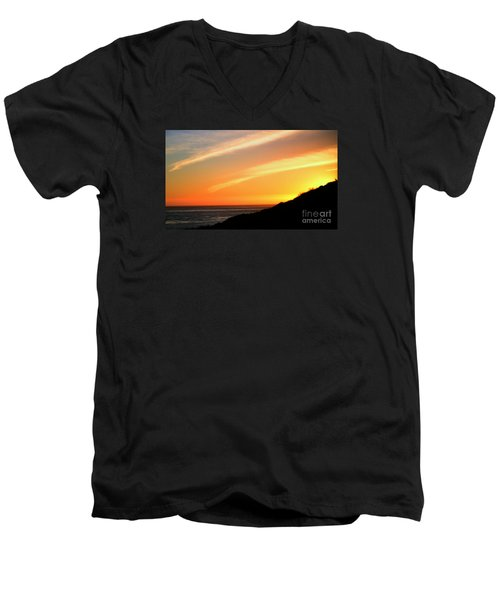 Men's V-Neck T-Shirt featuring the photograph Socal Sunet by Clayton Bruster