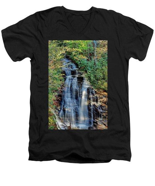 Soco Falls In Fall Men's V-Neck T-Shirt