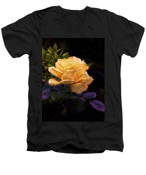 Soft Gold Rose Men's V-Neck T-Shirt