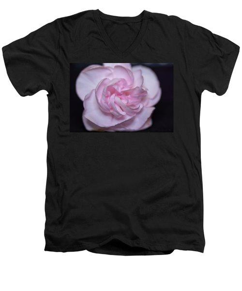 Soft Pink Rose Men's V-Neck T-Shirt