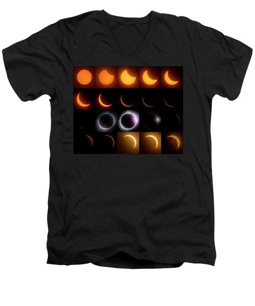 Solar Eclipse - August 21 2017 Men's V-Neck T-Shirt