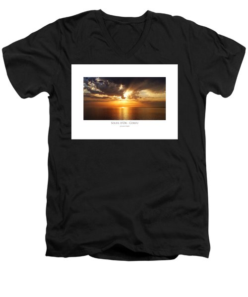 Soleil D'or - Corfu Men's V-Neck T-Shirt