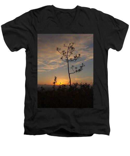 Solitude At Solidad Men's V-Neck T-Shirt by Jeremy McKay