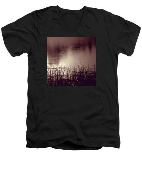 Men's V-Neck T-Shirt featuring the photograph Solitude by Trish Mistric
