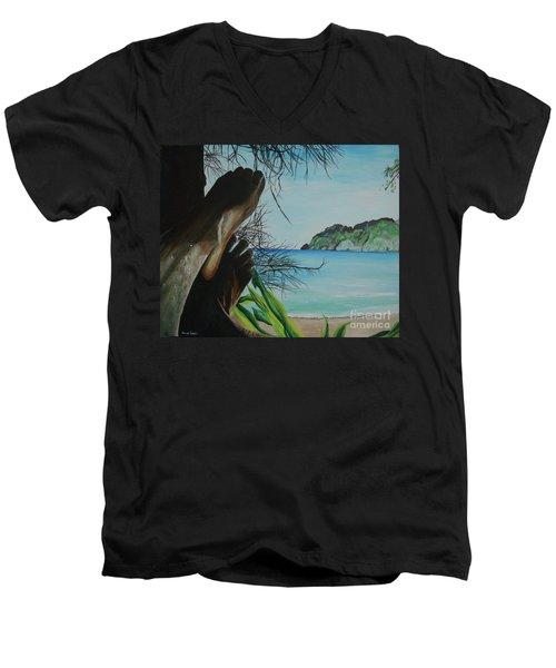Solo Men's V-Neck T-Shirt by Stuart Engel