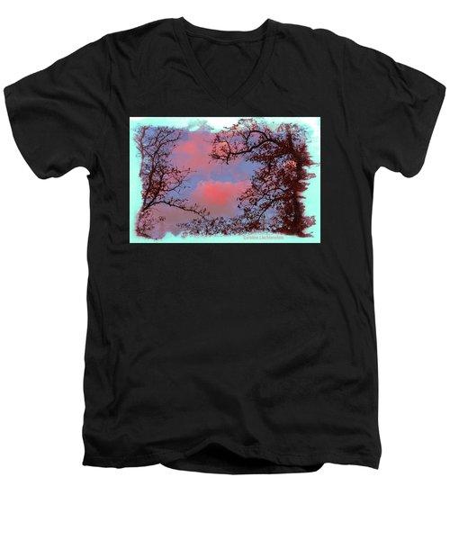 Sometimes Quiet La Vernia Is Wild Men's V-Neck T-Shirt by Carolina Liechtenstein