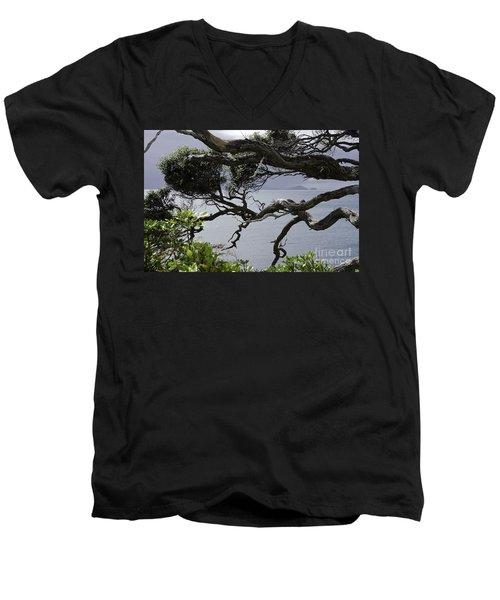 Somewhere Around Whangarei, New Zealand Men's V-Neck T-Shirt by Yurix Sardinelly