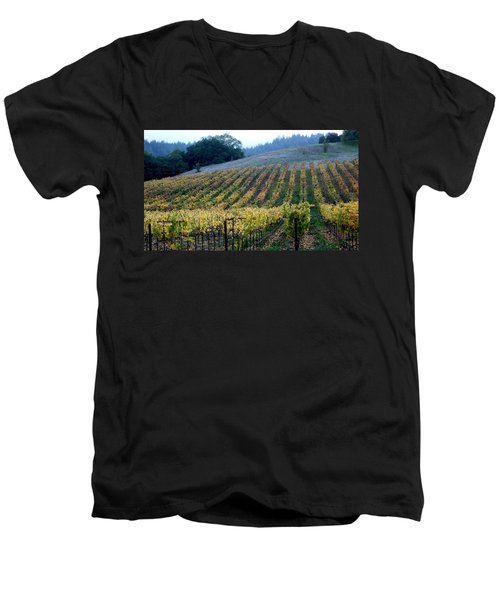 Sonoma County Vineyards Near Healdsburg Men's V-Neck T-Shirt
