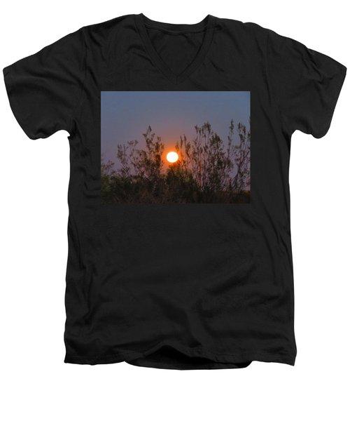 Sonoran Desert Harvest Moon Men's V-Neck T-Shirt
