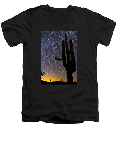 Sonoran Startrails - Reaching For The Stars Men's V-Neck T-Shirt
