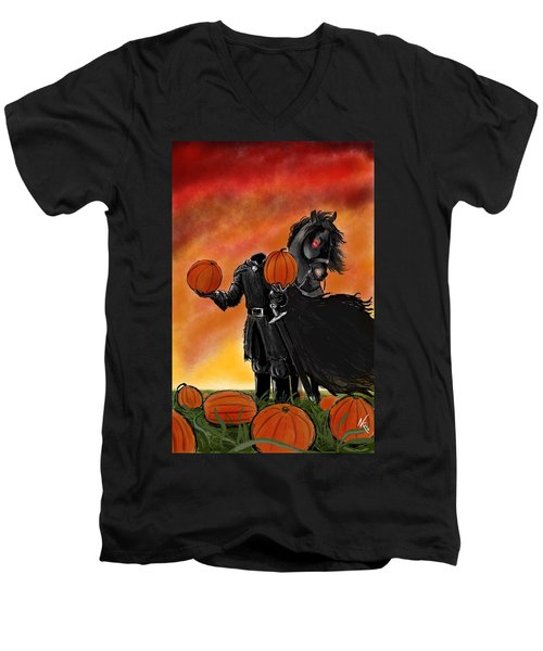 Soon It Will Be All Hallows' Eve Men's V-Neck T-Shirt