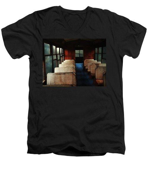 Soul Train Men's V-Neck T-Shirt by RC deWinter
