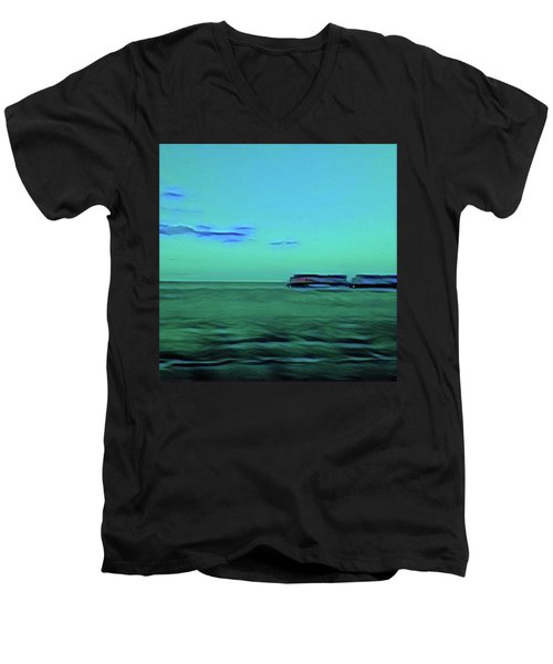 Sound Of A Train In The Distance Men's V-Neck T-Shirt