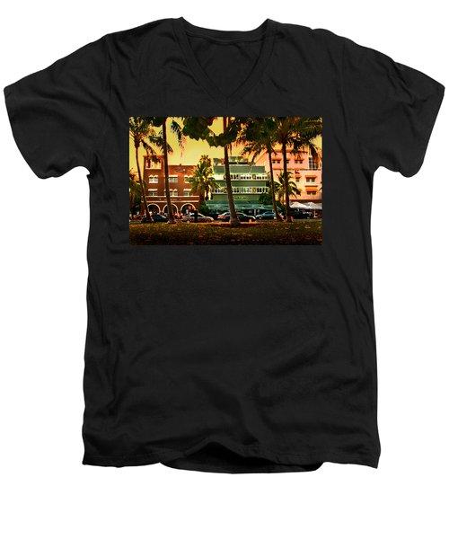 South Beach Ocean Drive Men's V-Neck T-Shirt