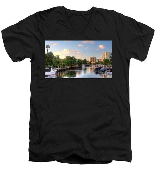 South Florida Canal Living Men's V-Neck T-Shirt