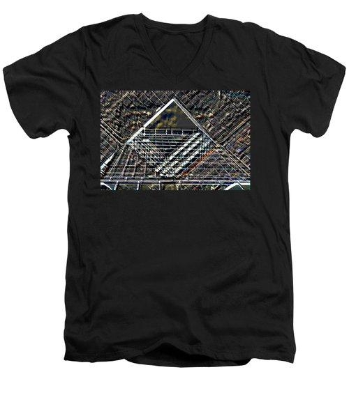 Southbank London Abstract Men's V-Neck T-Shirt