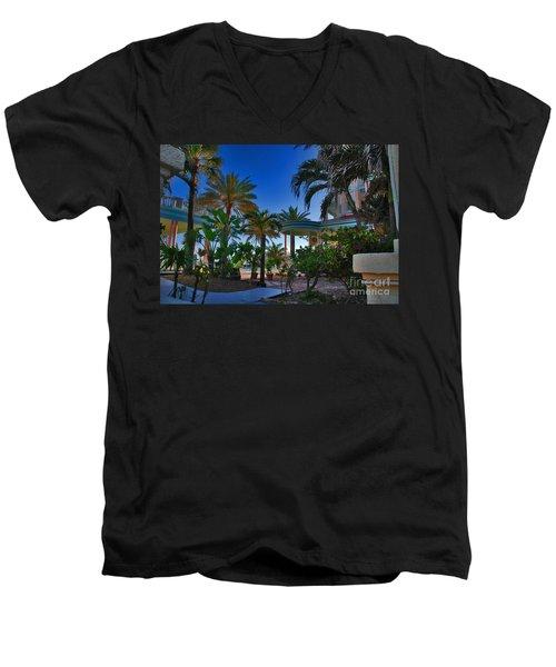 Southernmost Lush Garden In Key West Men's V-Neck T-Shirt