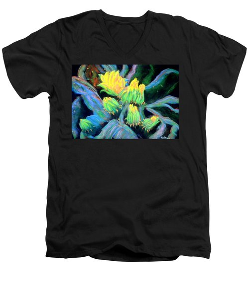 Men's V-Neck T-Shirt featuring the pastel Southwesterly Cactus Impression Of.....sold by Antonia Citrino