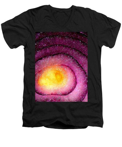 Space Allium Men's V-Neck T-Shirt by Danielle R T Haney