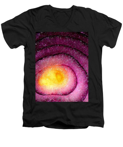 Space Allium Men's V-Neck T-Shirt