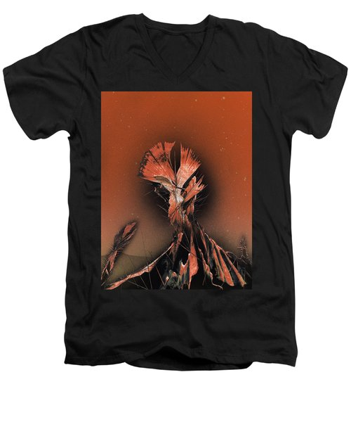 Space Cacti Men's V-Neck T-Shirt