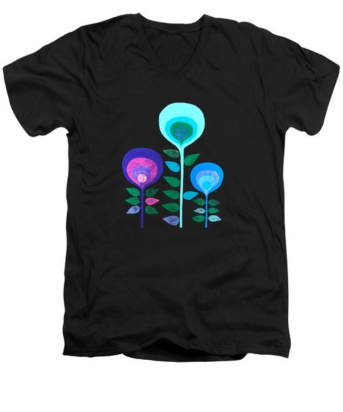 Space Flowers Men's V-Neck T-Shirt