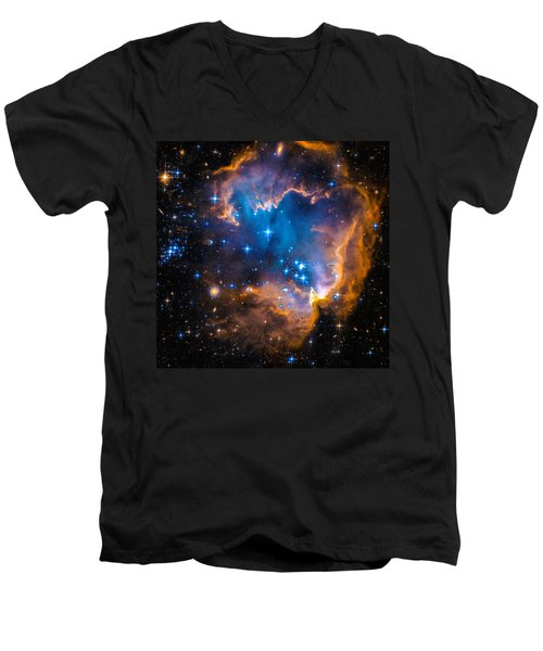 Space Image - New Stars And Nebula Men's V-Neck T-Shirt