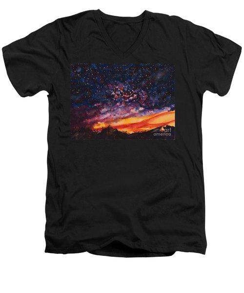 Space Oddity  Men's V-Neck T-Shirt