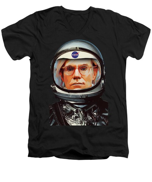 Spacesuit Warhol Men's V-Neck T-Shirt