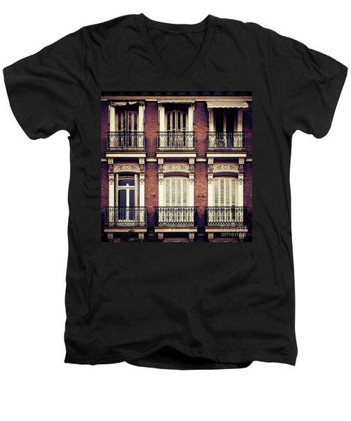 Spanish Balconies Men's V-Neck T-Shirt