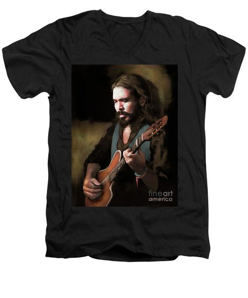 Spanish Guitar - El Javi Men's V-Neck T-Shirt