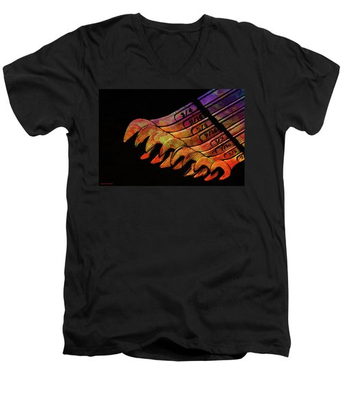 Spanners 01 Men's V-Neck T-Shirt by Kevin Chippindall