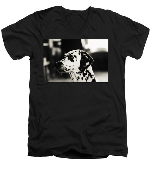 Men's V-Neck T-Shirt featuring the photograph Special Glance For You by Jenny Rainbow