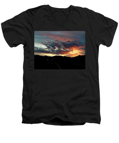 Spectacular Sky Men's V-Neck T-Shirt