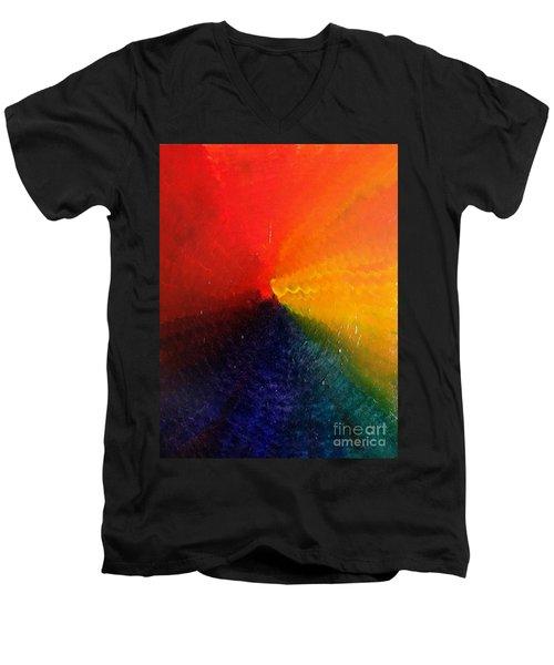 Spectral Spiral  Men's V-Neck T-Shirt