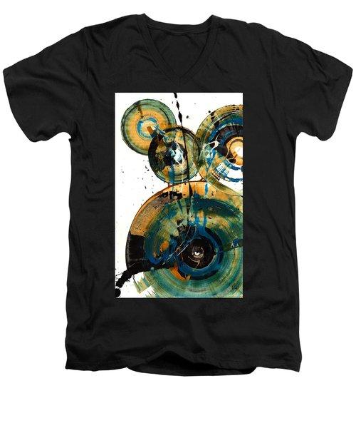 Spherical Joy Series 46.040511 Men's V-Neck T-Shirt by Kris Haas