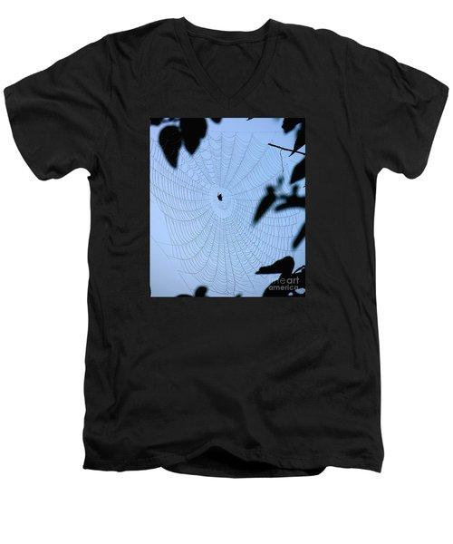 Spider In Web Men's V-Neck T-Shirt