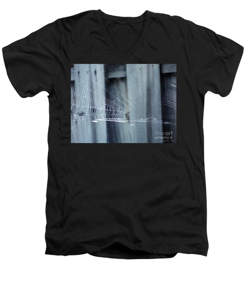 Men's V-Neck T-Shirt featuring the photograph Spider Web by Megan Dirsa-DuBois