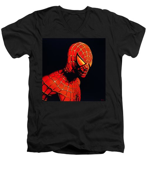Spiderman Men's V-Neck T-Shirt