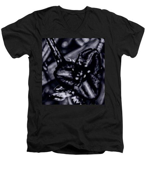 Spiderwort Shining Men's V-Neck T-Shirt by Gina O'Brien