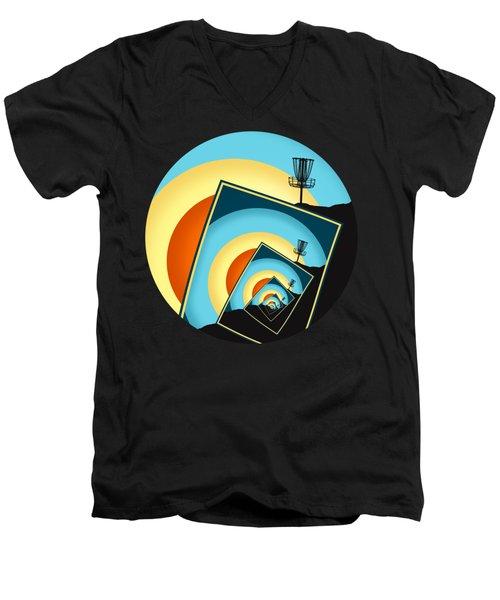 Spinning Disc Golf Baskets 1 Men's V-Neck T-Shirt