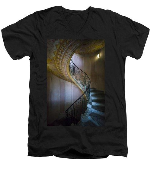 Spiral Staircase Melk Abbey II Men's V-Neck T-Shirt