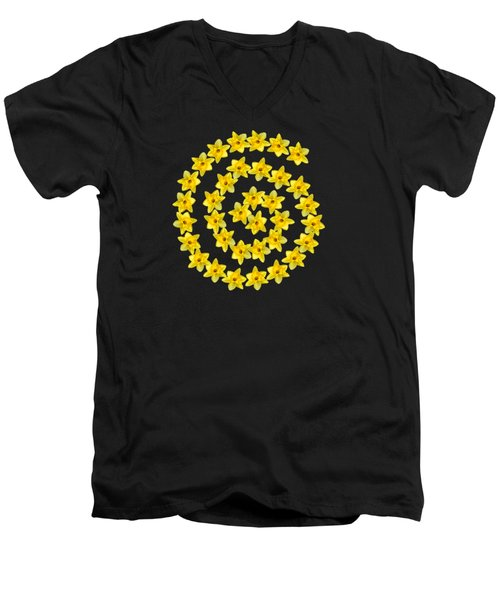 Spiral Symbol Men's V-Neck T-Shirt