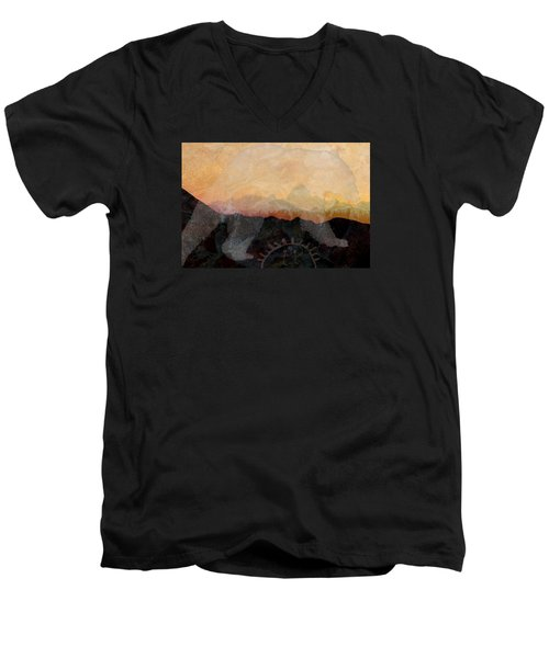 Spirit Bear # 6 Men's V-Neck T-Shirt by Ed Hall