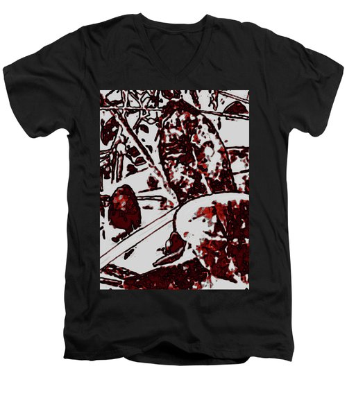 Spirit Of Leaves Men's V-Neck T-Shirt by Gina O'Brien