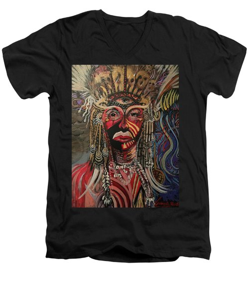 Spirit Portrait Men's V-Neck T-Shirt