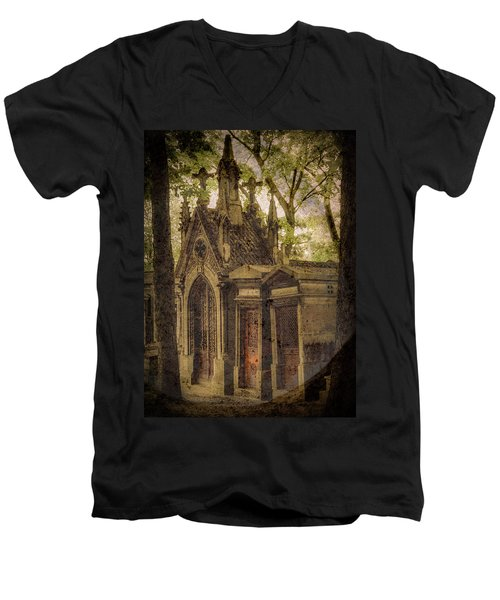 Paris, France - Spirits - Pere-lachaise Men's V-Neck T-Shirt
