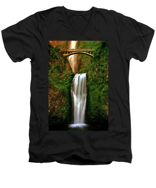 Spiritual Falls Men's V-Neck T-Shirt